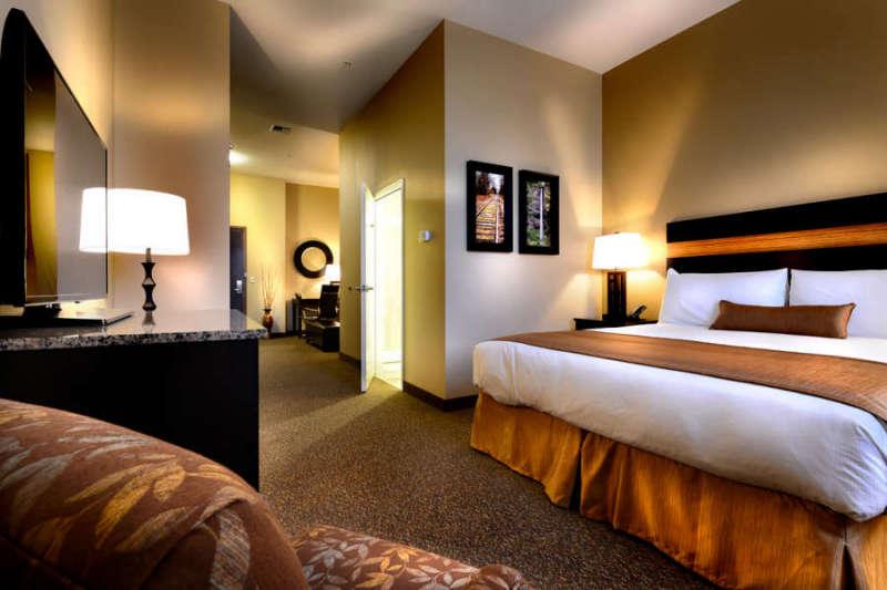Studio Suite at the Hotel Maison in Yakima, Washington.