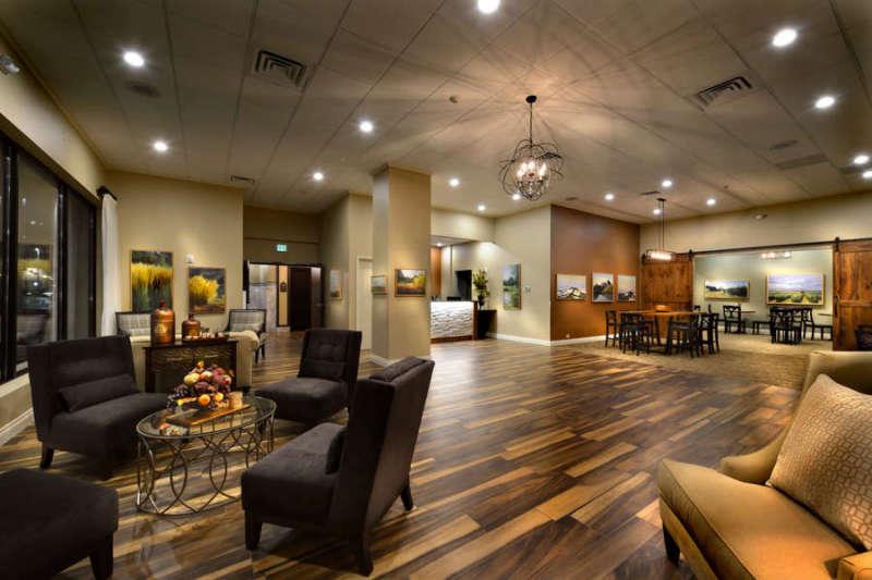 The Hotel Maison lobby in Yakima, Washington.
