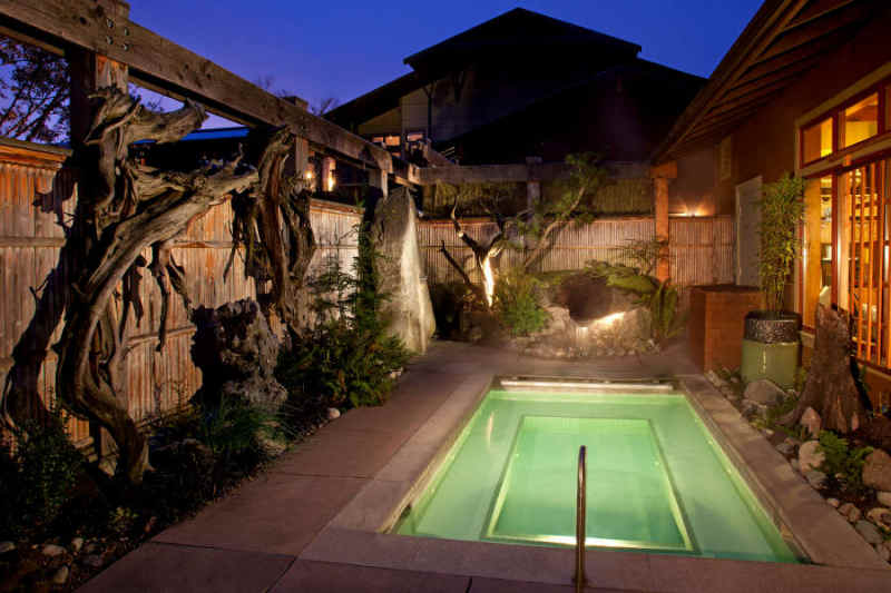 The relaxation pool at the Willows Lodge.