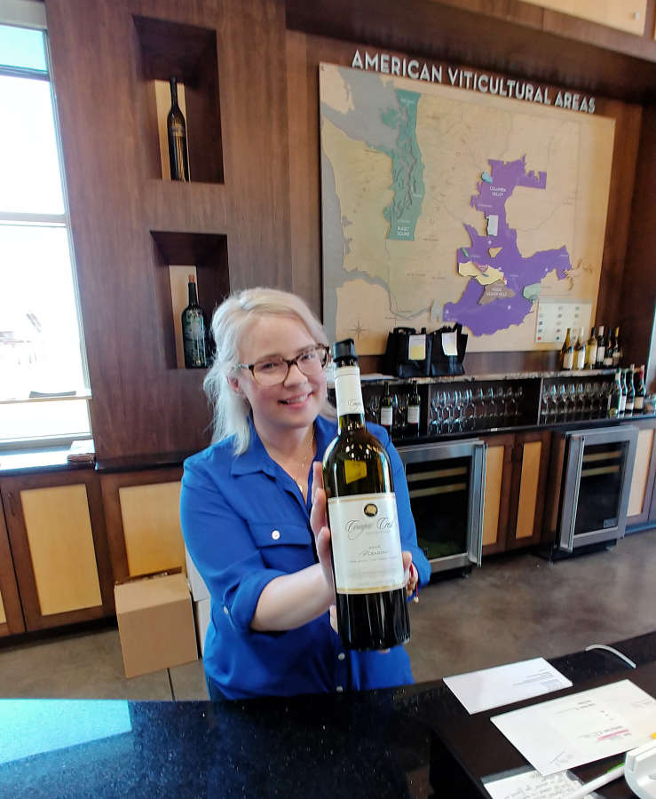 Wine tasting at the Walter Clore Center.