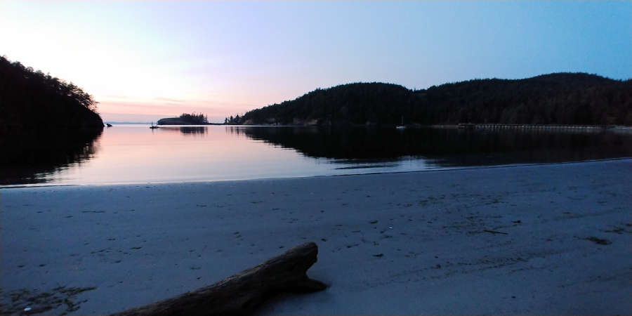 Bowman Bay sunset in Anacortes.
