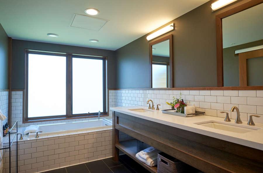 Suite bathroom at Eritage Resort.