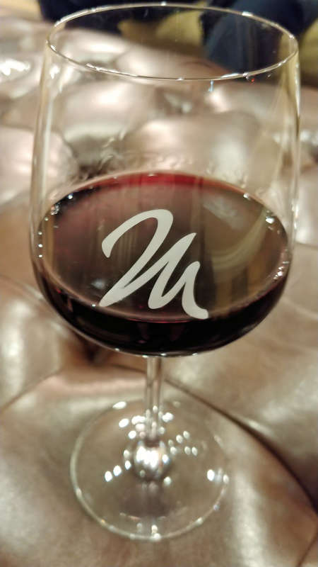 Complimentary glass of wine at the Hotel Maison.