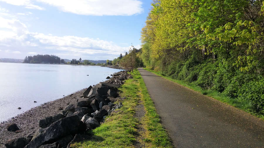 The Tommy Thompson Trail in Anacortes, Washington/