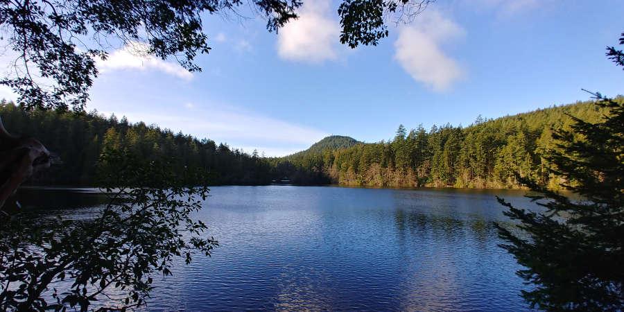 Whistle Lake in Anacortes, Washington.