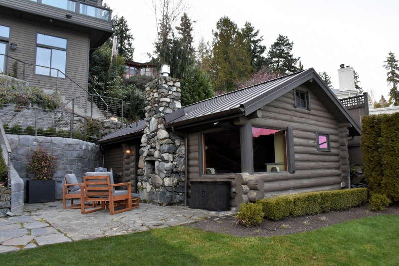 The lakeside cabin near Seattle in Medina, Washington.