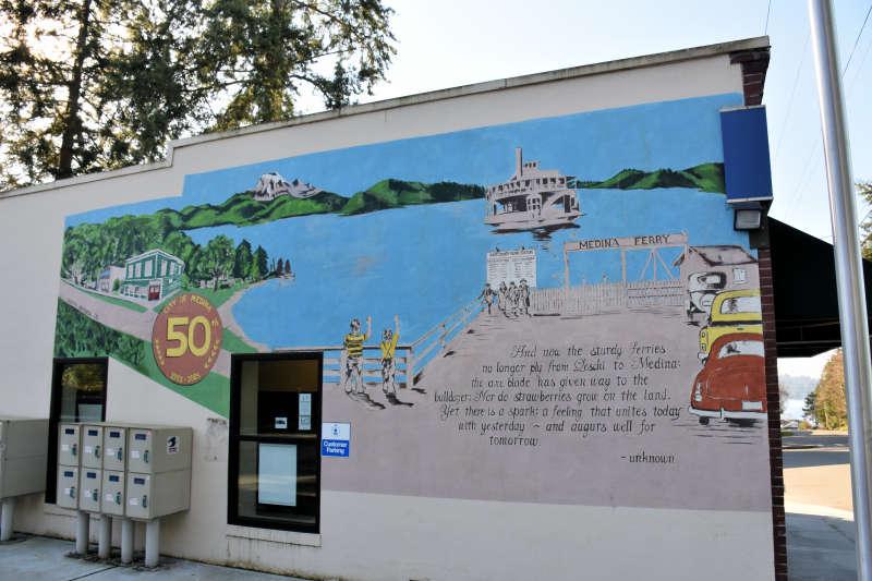 The Medina Post Office in Medina, Washington