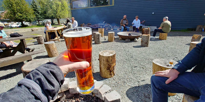 A pint of beer at Packwood Brewing Co. in Packwood, Washington.