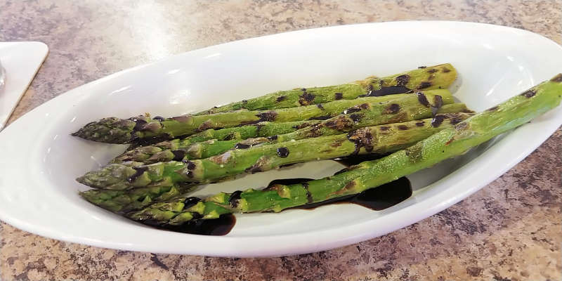 Grilled asparagus at Old Town Pump Saloon in Union Gap, Washington.