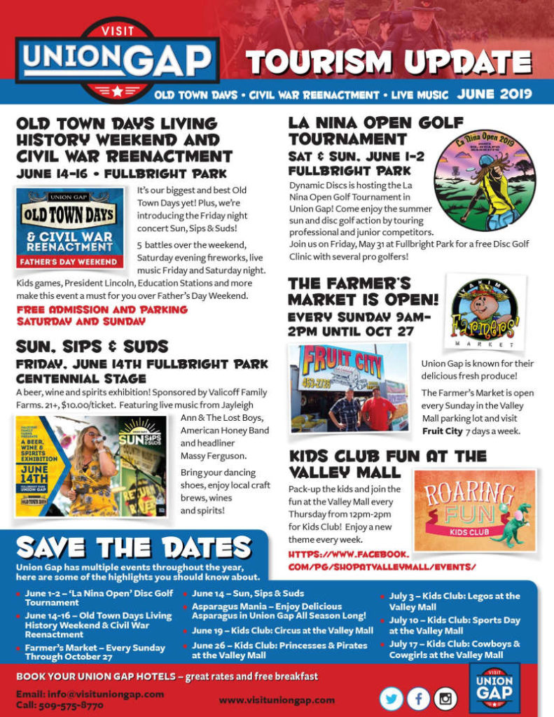 June events in Union Gap, Washington.