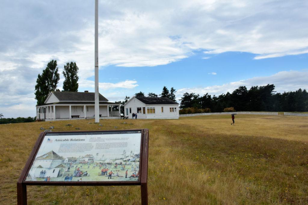 Parade grounds at American Camp on San Juan Island.