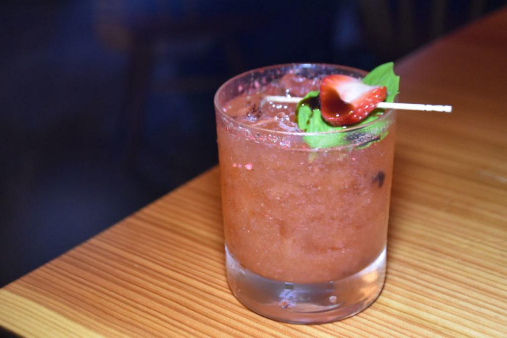 Craft cocktail at Duck Soup San Juan.