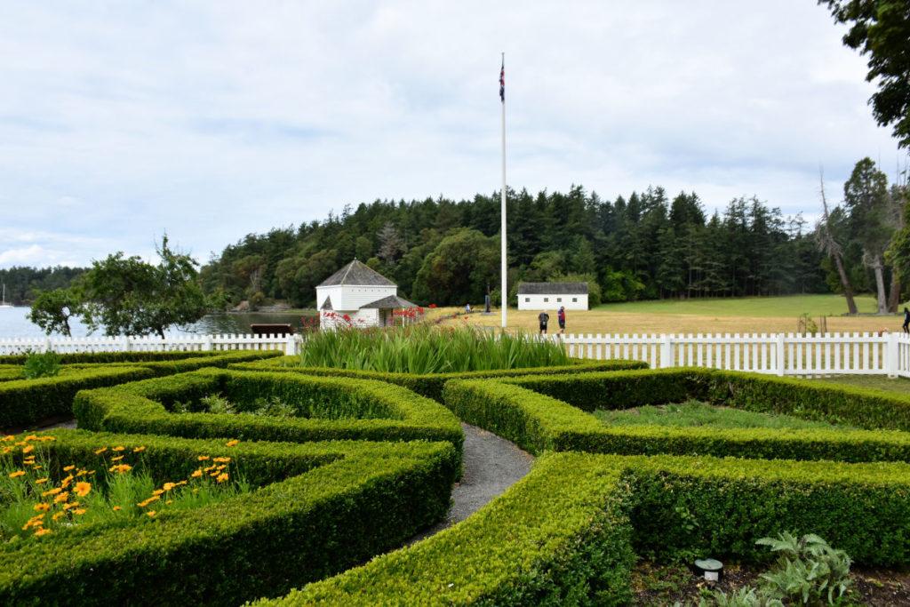 Garden at English Camp on San Juan Island.