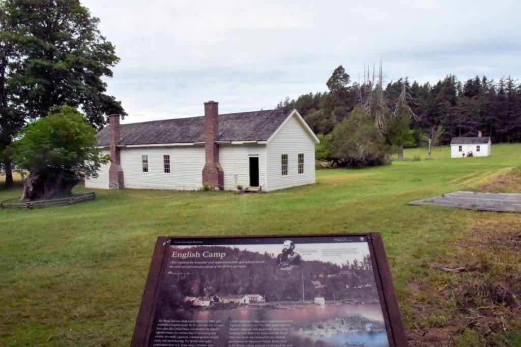 English Camp on San Juan Island.