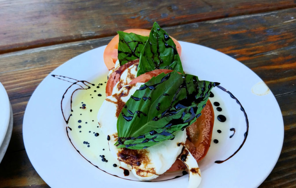 A caprese salad from Saddle Rock Pub Brewery.