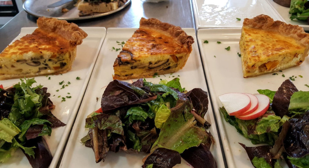 Homemade quiche at San Juan Bistro in Friday harbor.