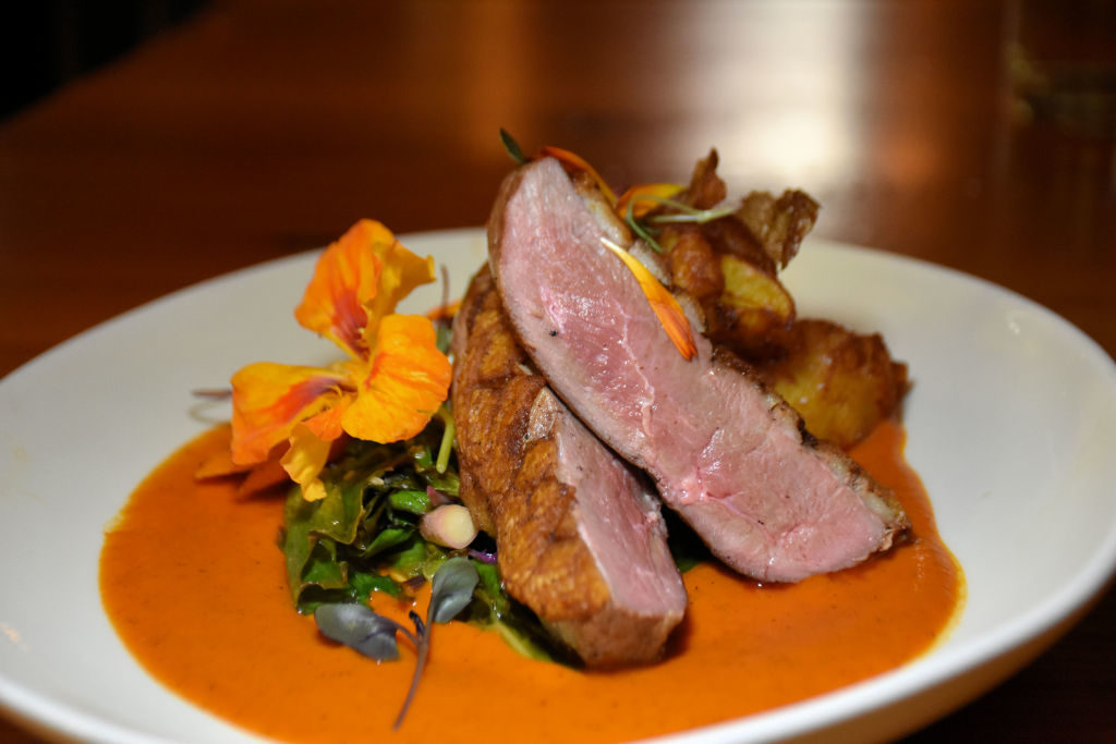 Duck breast at Duck Soup on San Juan Island.