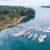 An aerial shot of Snug Harbor Resort.