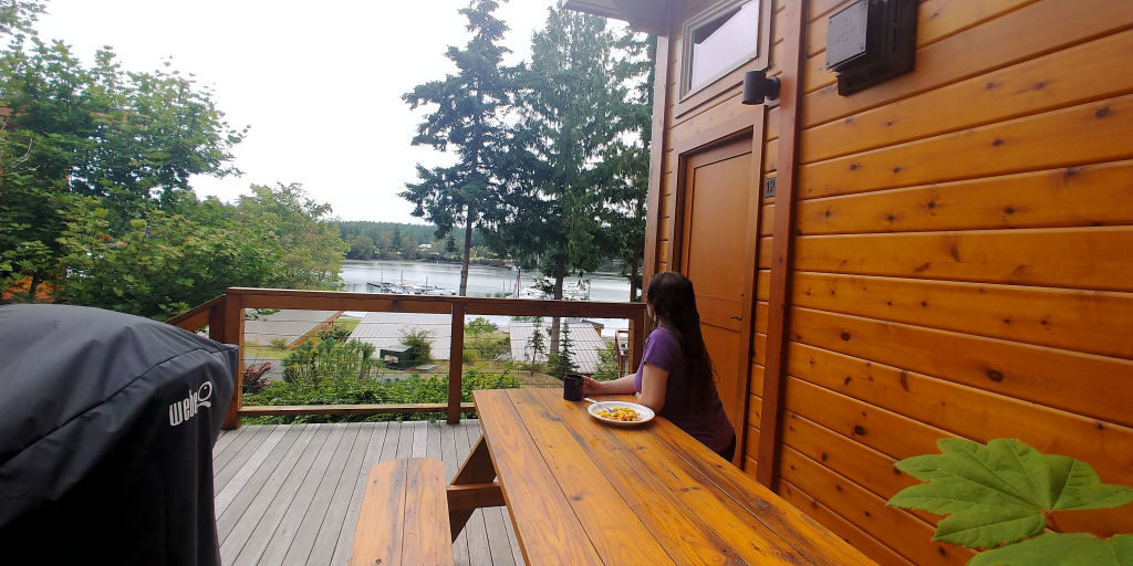 View from deck at Snug Harbor Resort.