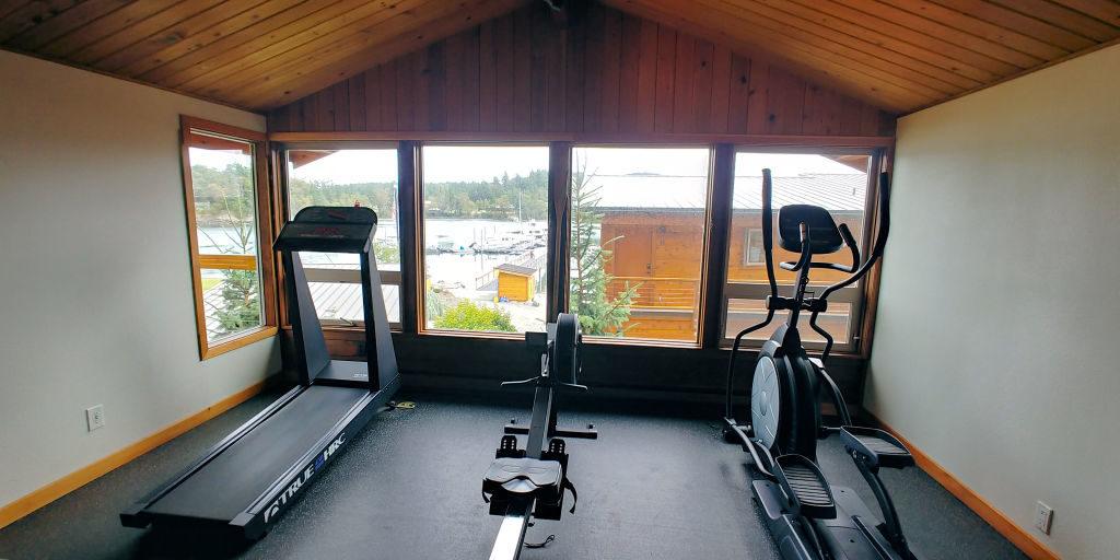 Exercise Room at Snug Harbor Resort.