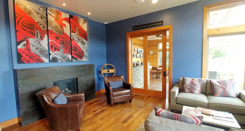 Reception area at Snug Harbor Resort.