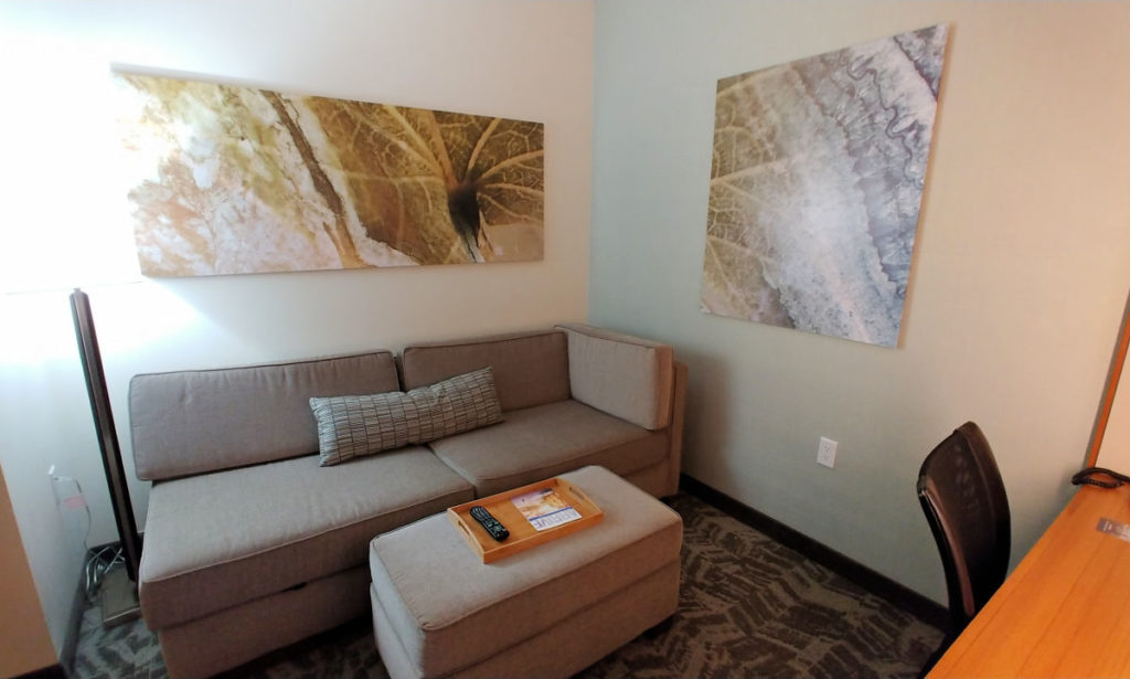 The suite at Springhill Suites Wenatchee.