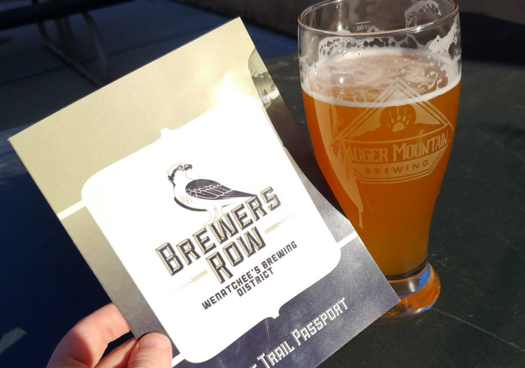 A Brewers Row pamphlet and a Washingtonbeer.