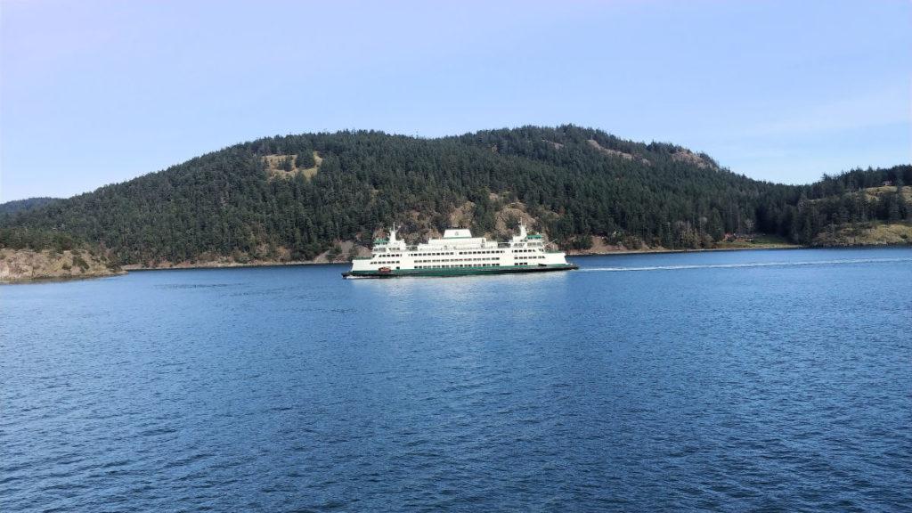 A Washington State Ferry in the San Juan Islands.