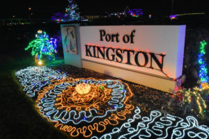 The Port of Kingston lit up for the holiday season.