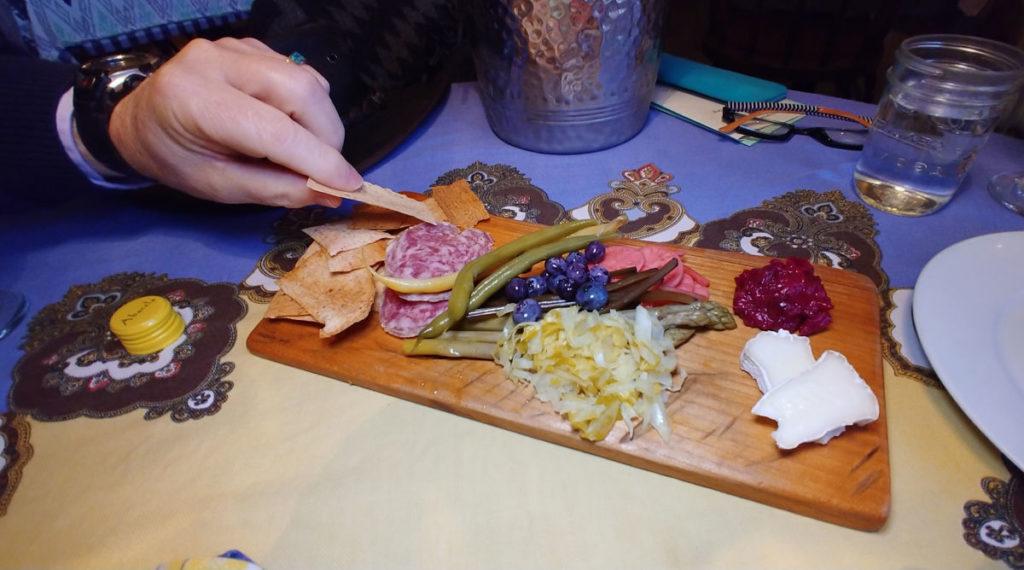 Deli board at Mossback Cafe in Kingston, Washington.