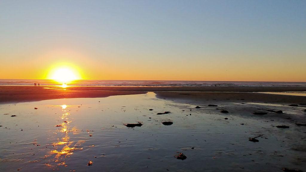 Sunset at Manzanita Beach in Oregon