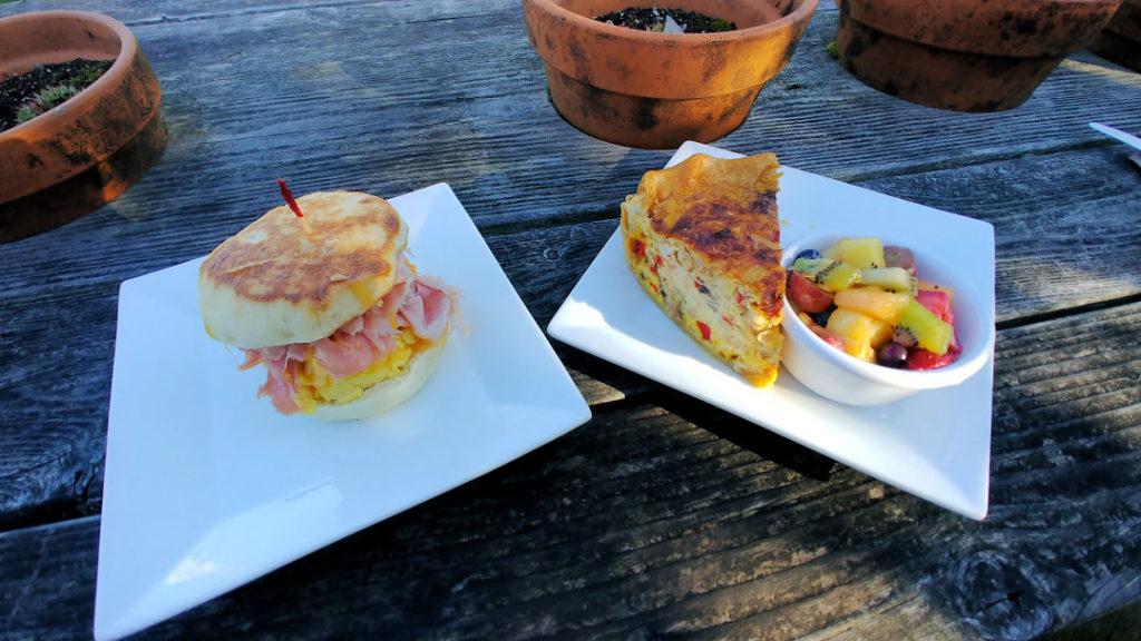 Breakfast at Bread and Ocean at Manzanita, Oregon.