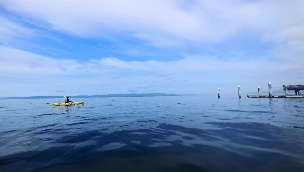Kayaking at Rendondo Beach in Des Moines, Washington