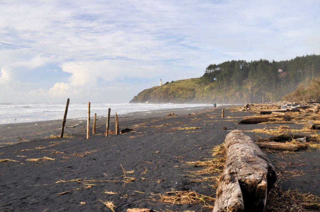 Benson Beach at Cape Disappointment State Park.