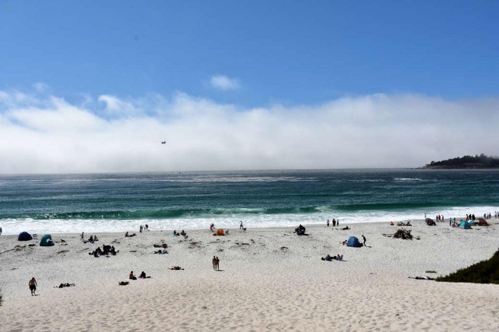 Carmel Beach at Carmel-by-the-Sea.