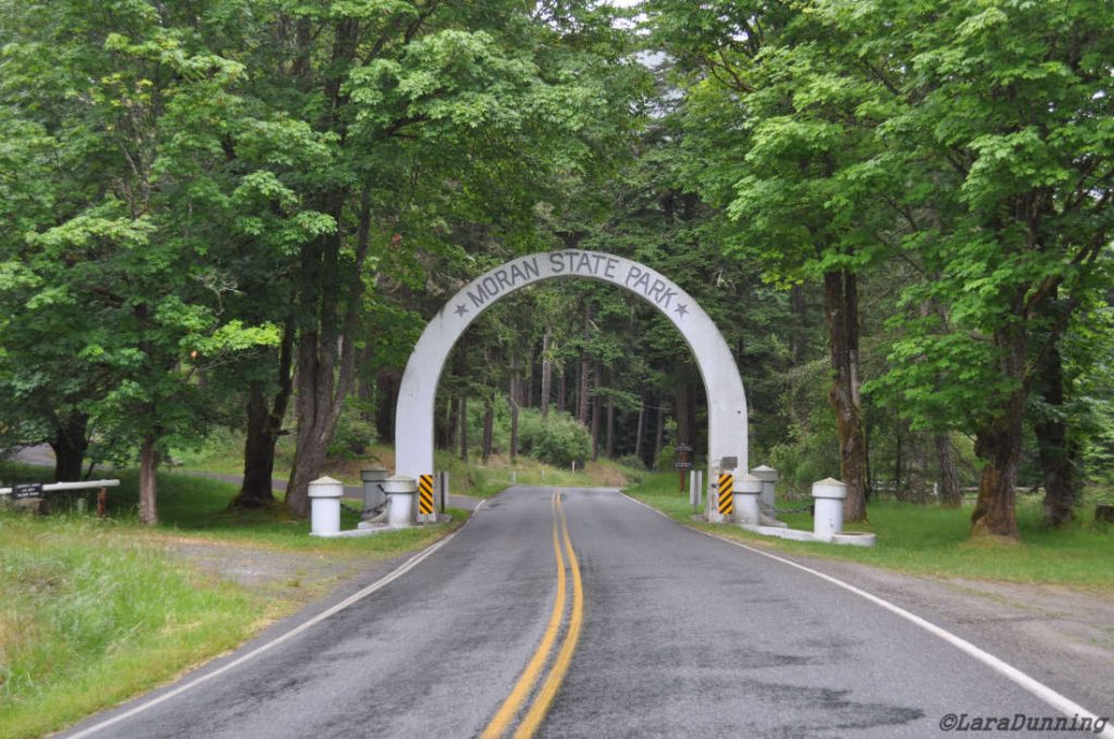 The arch entering Moran State Park on Orcas Island.