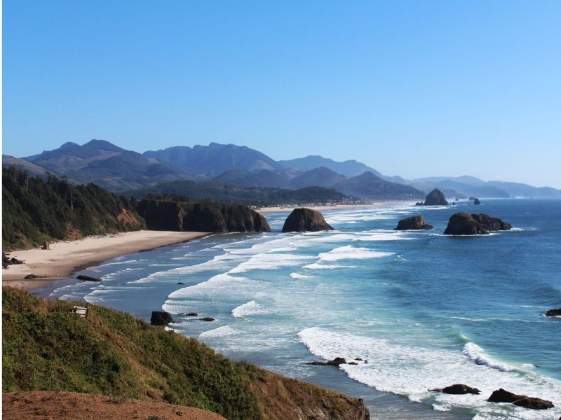 cannon beach oregon from above