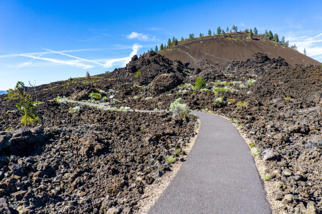 paved trail of the molten lands at Newberry National Volcanic Monument