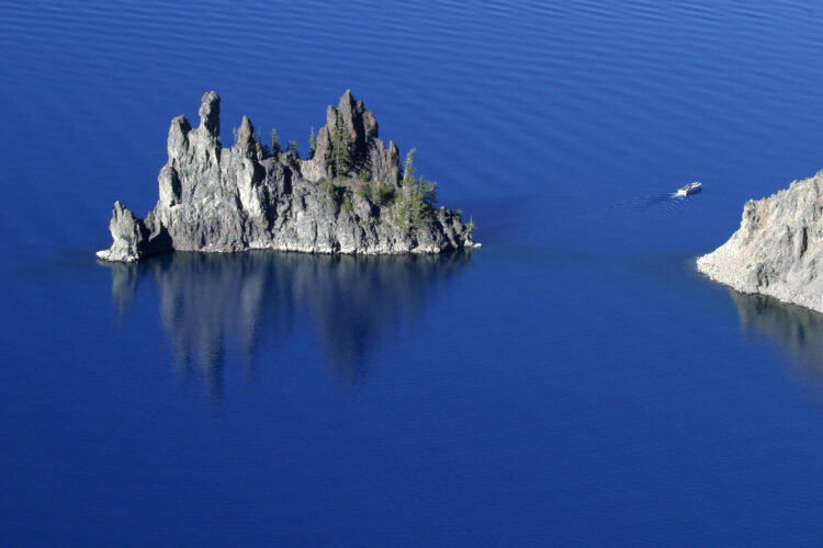 phantom ship formation, as seen when hiking in crater lake national park