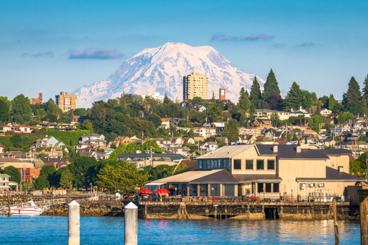 tacoma washington as seen from the harbor