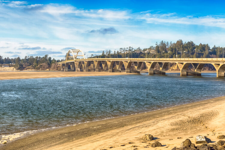 bridge over water near waldport