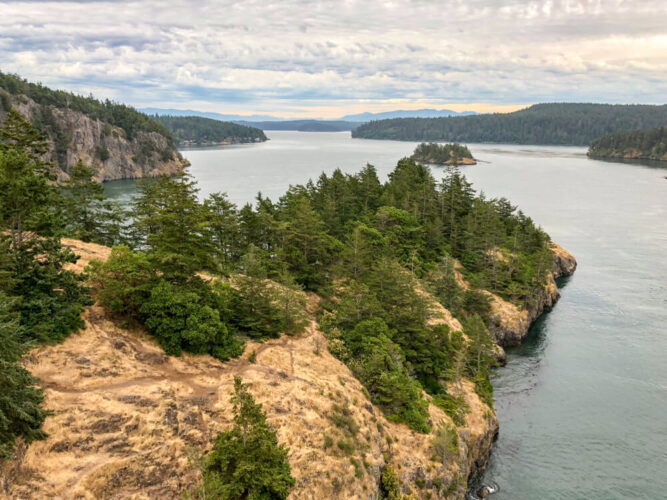 beautiful coastal landscape of Oak Harbor with views over the Puget sound, a lovely coastal town in Washington