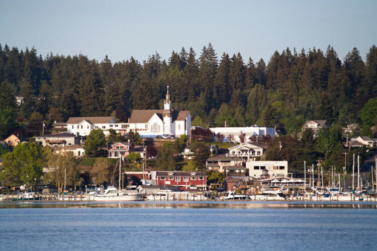 the beautiful town of poulsbo on the harbor