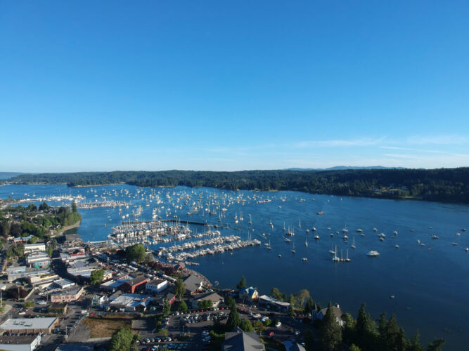 view of the marina in poulsbo