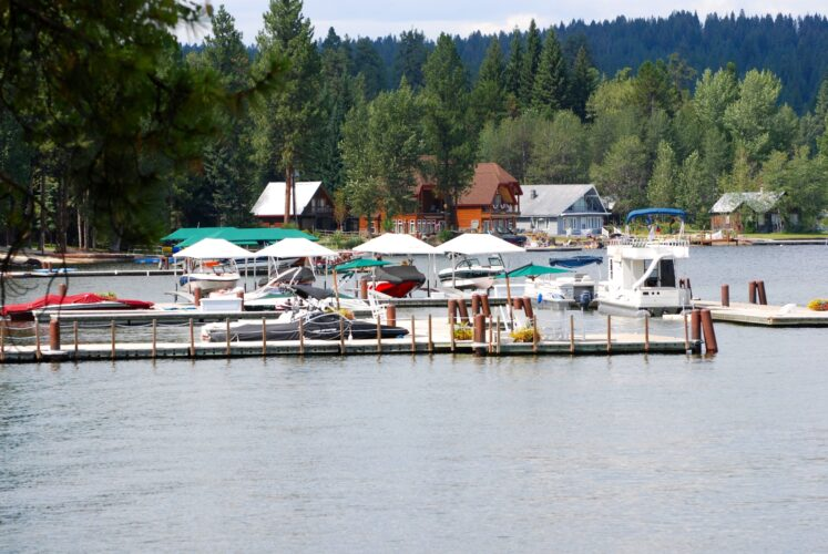 harbor as seen from the water in mccall idaho, one of the best small towns in idaho to visit